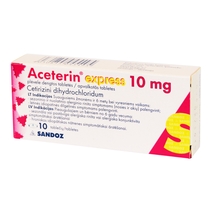 ACETERIN EXPRESS 10mg  tabletes N10